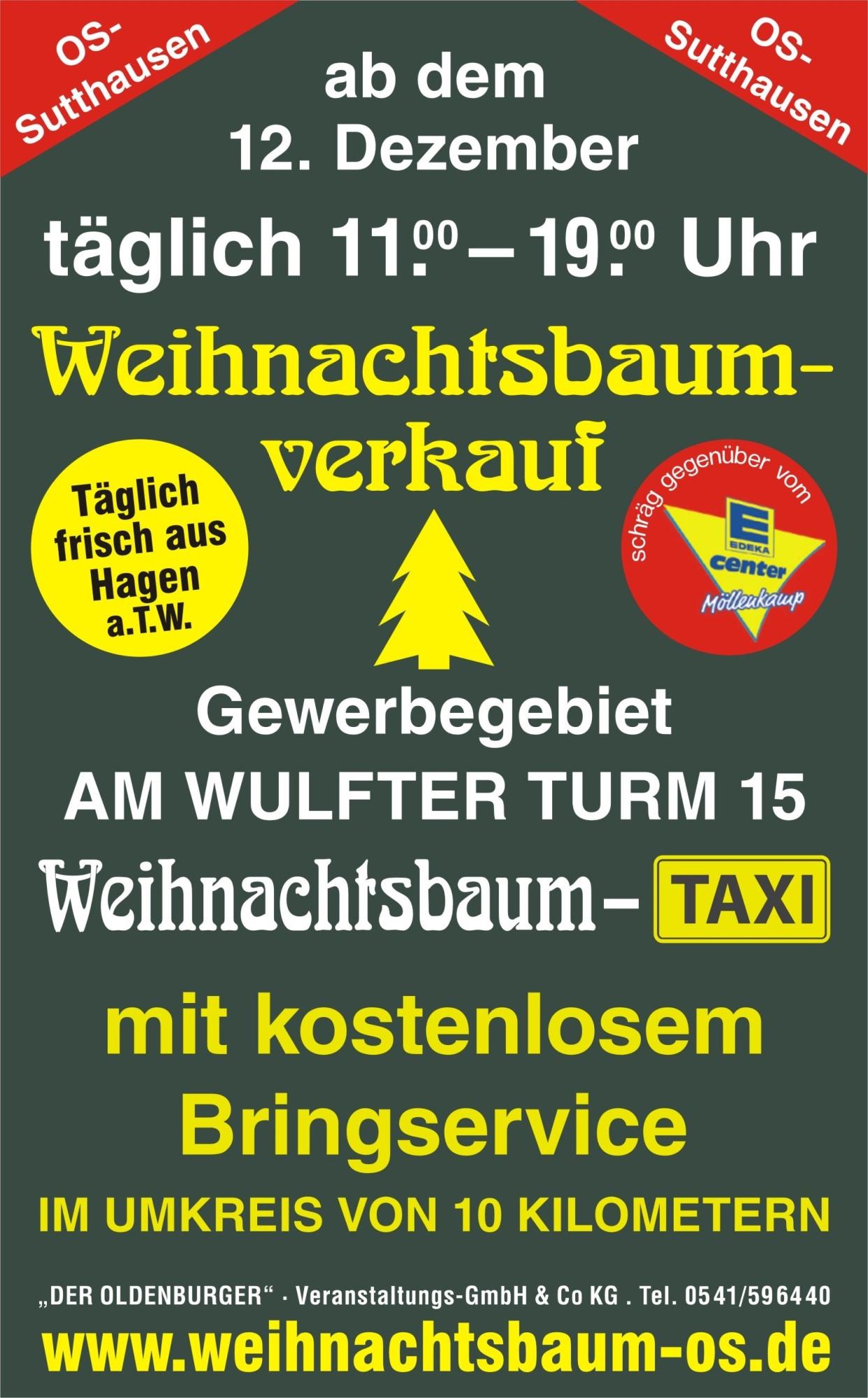 Weihnachtsbaum-Taxi 2020 Grafik