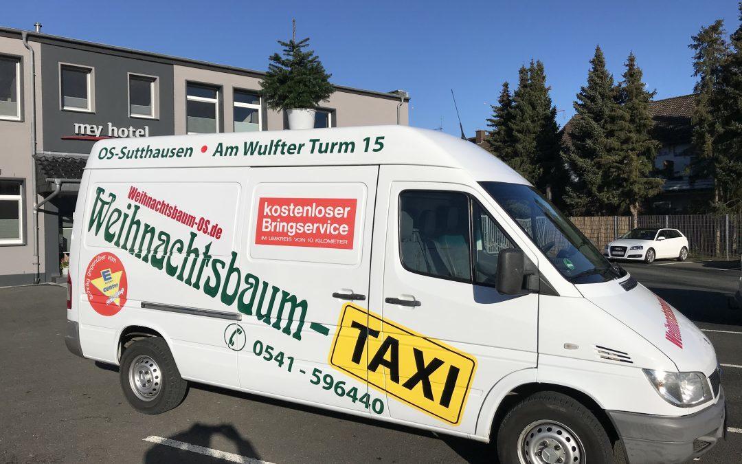 """Weihnachtsbaumverkauf in Osnabrück / Sutthausen """"Weihnachtsbaum-Taxi"""" 2021"""